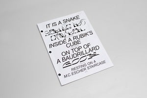 It is a snake (...) by Colin Doerffler