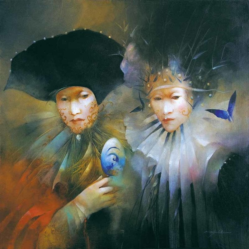Image of ANNE BACHELIER - ORIGINAL OIL ON CANVAS - 'REVELER LE MYSTERE'