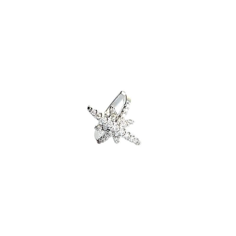 Image of North star silver ear cuff (sterling silver)