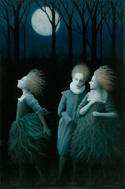 Image of ROSALIND LYONS - LIMITED EDITION FINE ART PRINT - 'A MIDWINTER NIGHTS DREAM'