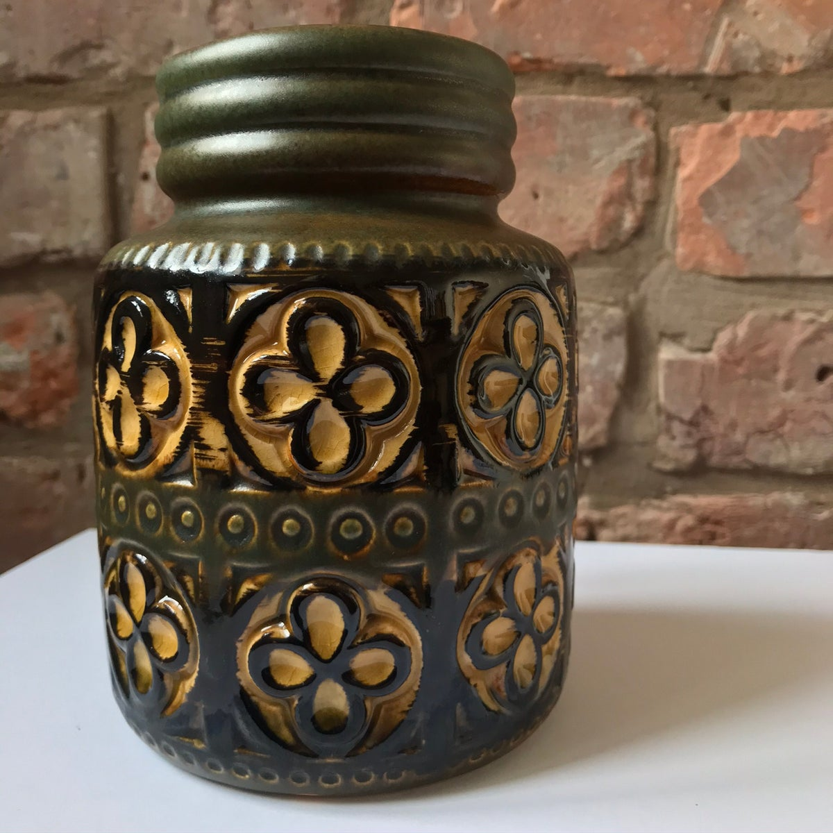 Image of Scheurich Keramik West German Retro Foligno Pottery Vase