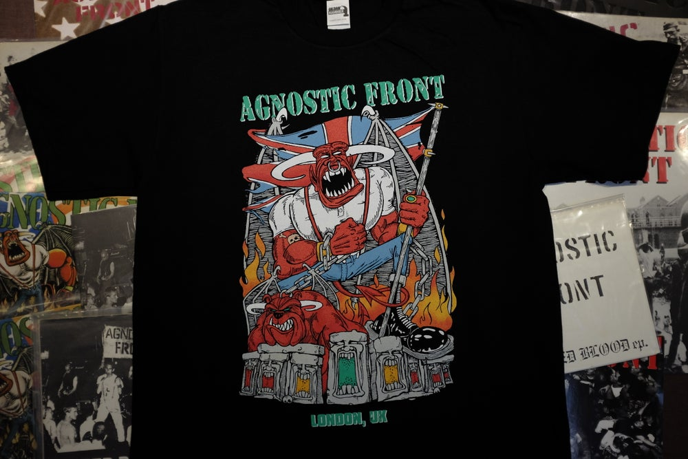 Image of AGNOSTIC FRONT x The Essence Stompin' Through Stonehenge Shirt