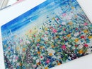 Image 1 of 'Summer Love' Glass Chopping Board