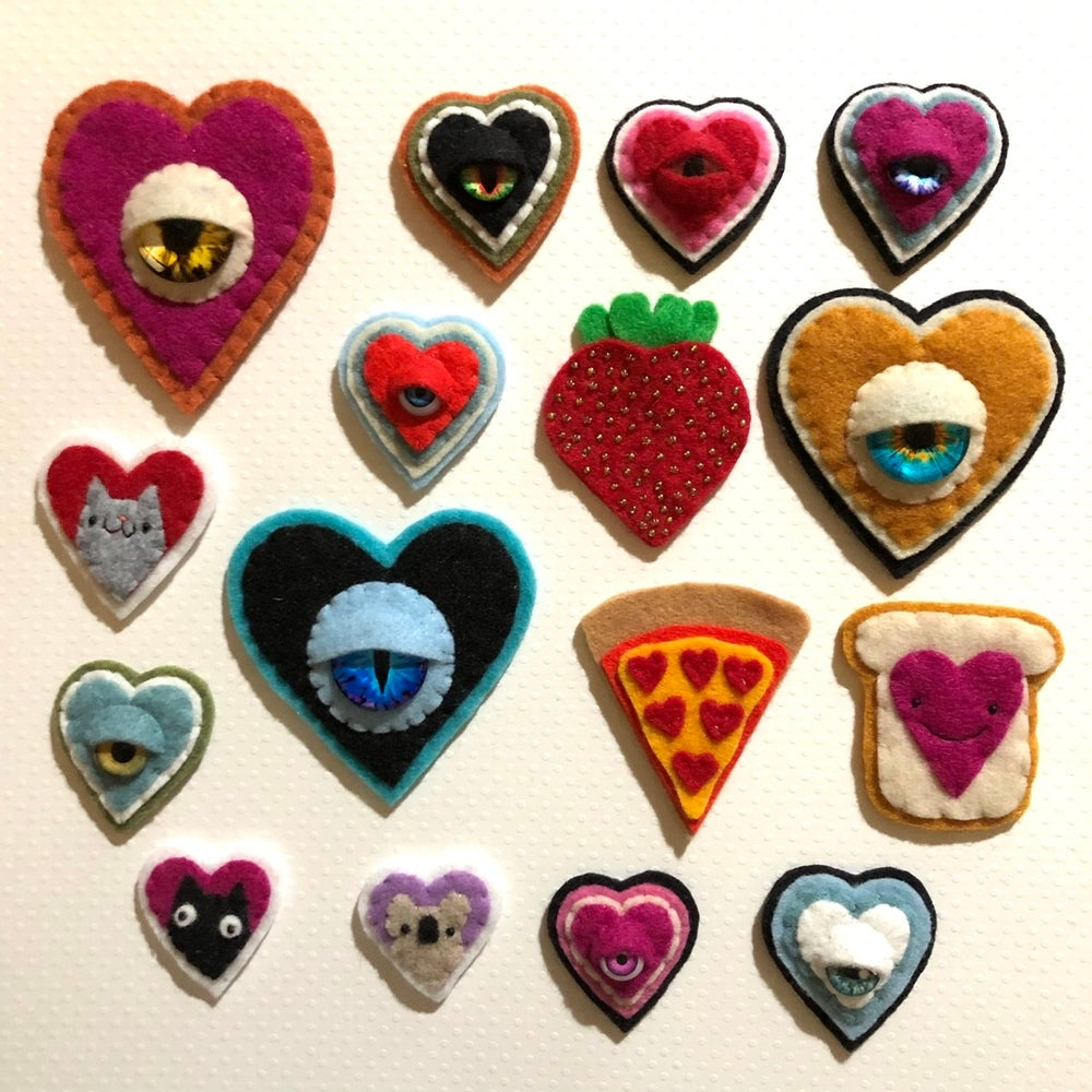Image of EYE heart you collection 2020 (brooches)