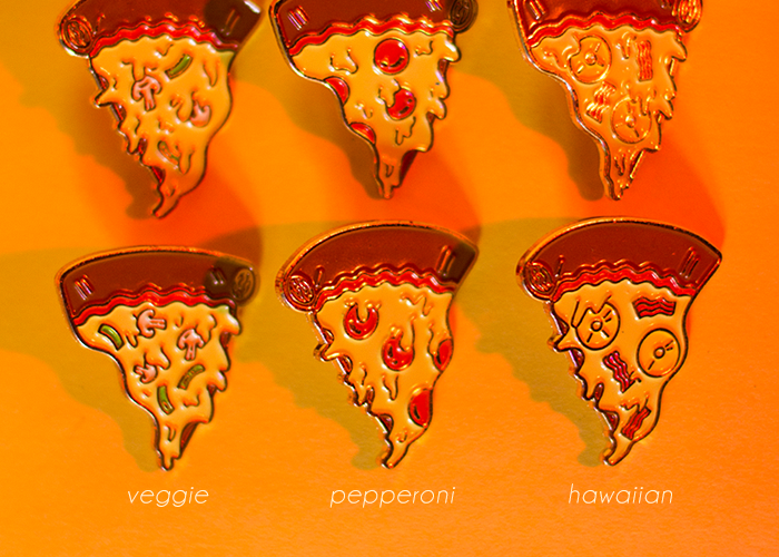 Image of Pizza Friends Forever Pins