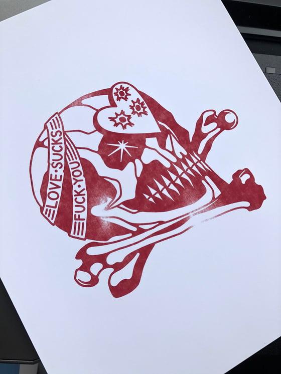 Image of Love Sucks Art Print