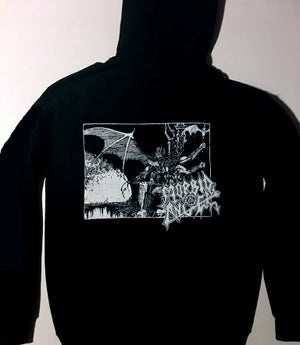 "Image of Morbid Angel "" Abomination ""  Hooded Sweatshirt with Sleeve Prints"