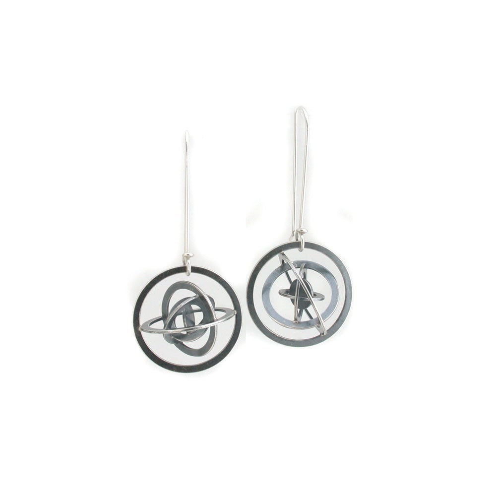 Image of lg gyroscope earrings