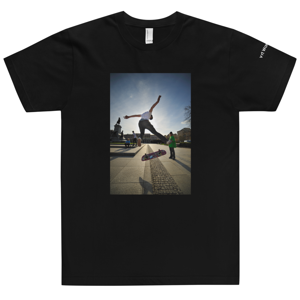 Image of Art Wanderers® X American Apparel® - Rider by Kuba Bożanowski - T-Shirt - Black