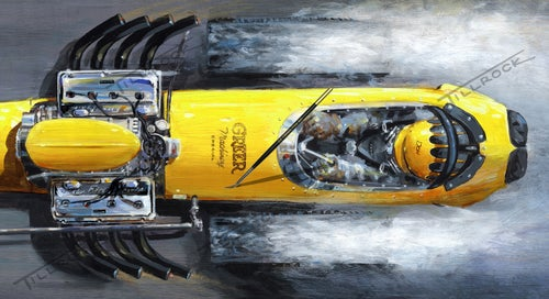 Image of The Greer - Black - Prudhomme Dragster  (14x24) or (22 x 40)  Signed & Numbered Giclee' Prints