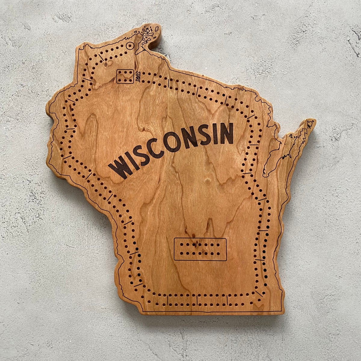 Wisconsin cribbage board #4