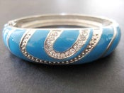 Image of GLAM TURQUOISE SWAROVSKI CRYSTALS BANGLE