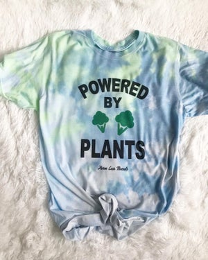 Image of POWERED BY PLANT TIE DYE UNISEX TEE