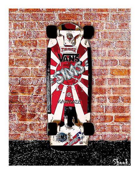 "Image of Sims ""Rising Sun"" Skateboard Print"