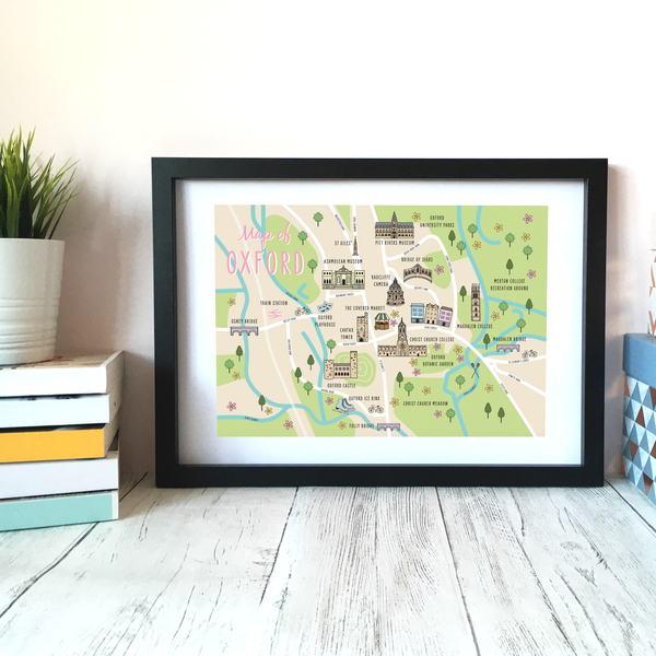 Image of Oxford Map Print A4