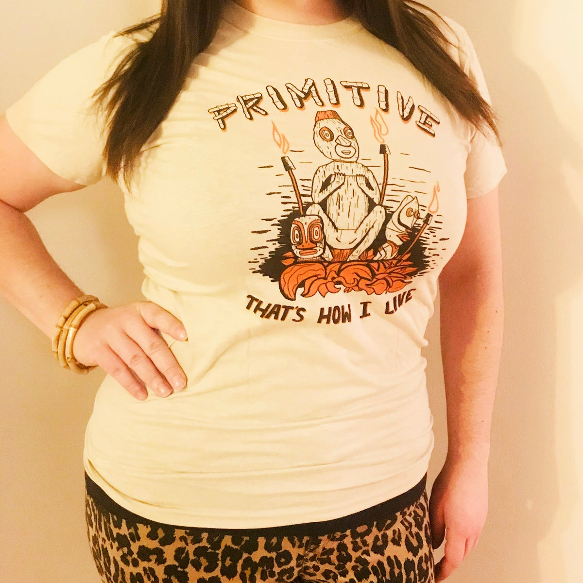 PRIMITIVE - That's How I Live! Mai Kai/Cramps Mash-up Men's T-Shirt