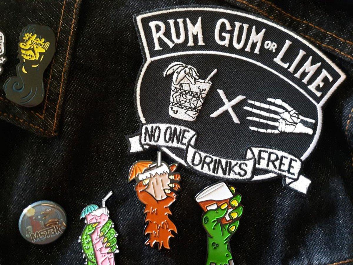 """RUM GUM OR LIME 5"""" Daiquiri Biker Patch"""