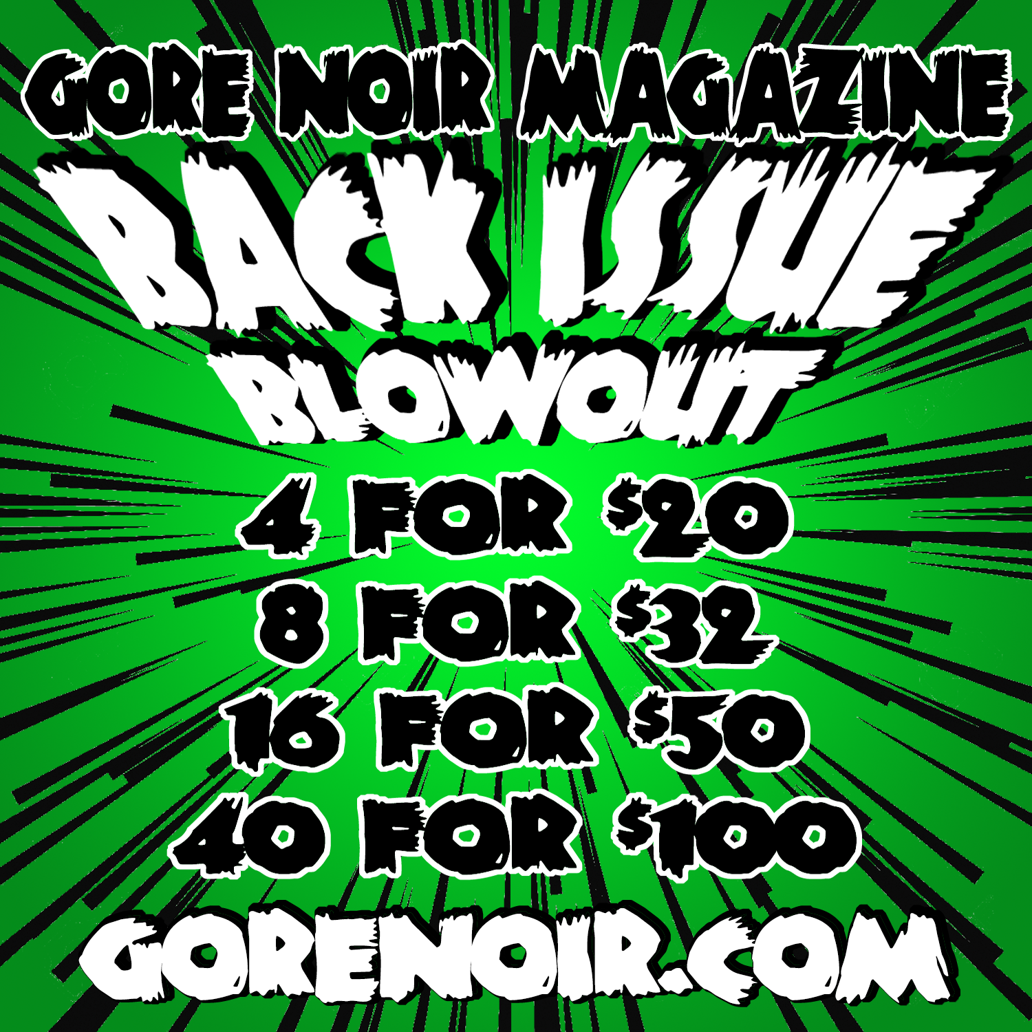 Image of BACK ISSUE BLOWOUT DEAL!