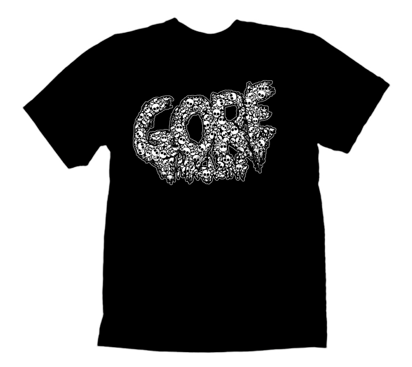 Image of Glow in the Dark skulls Gore Logo Shirt