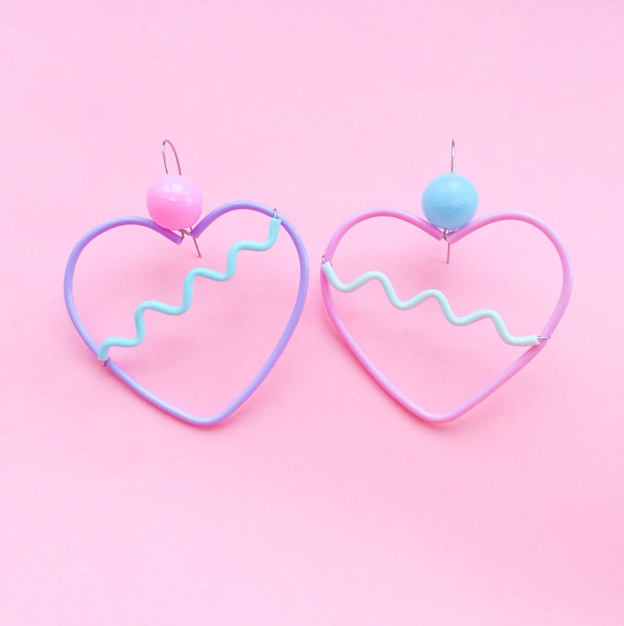 Image of Dream heart earrings