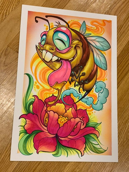 Image of Original Buzzed Bee Marker Drawing