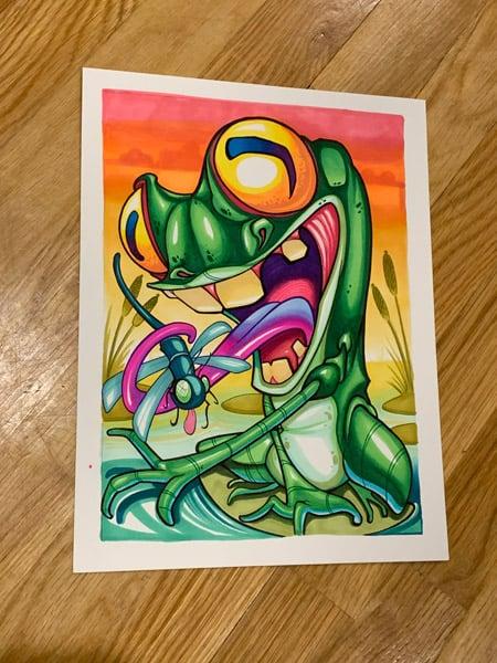 Image of Original Froggy frog Marker Drawing