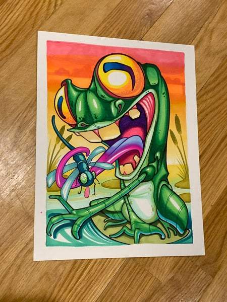 Image of Original Froggy frog Marker Drawing
