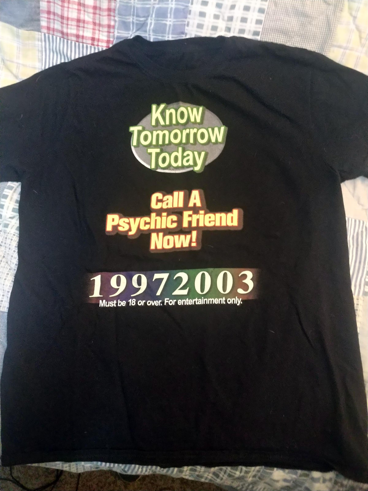 19972003 - KNOW TOMORROW TODAY - T-SHIRT