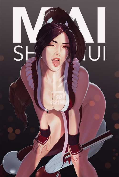 Image of Mai Shiranui, King of Fighters Poster Prints