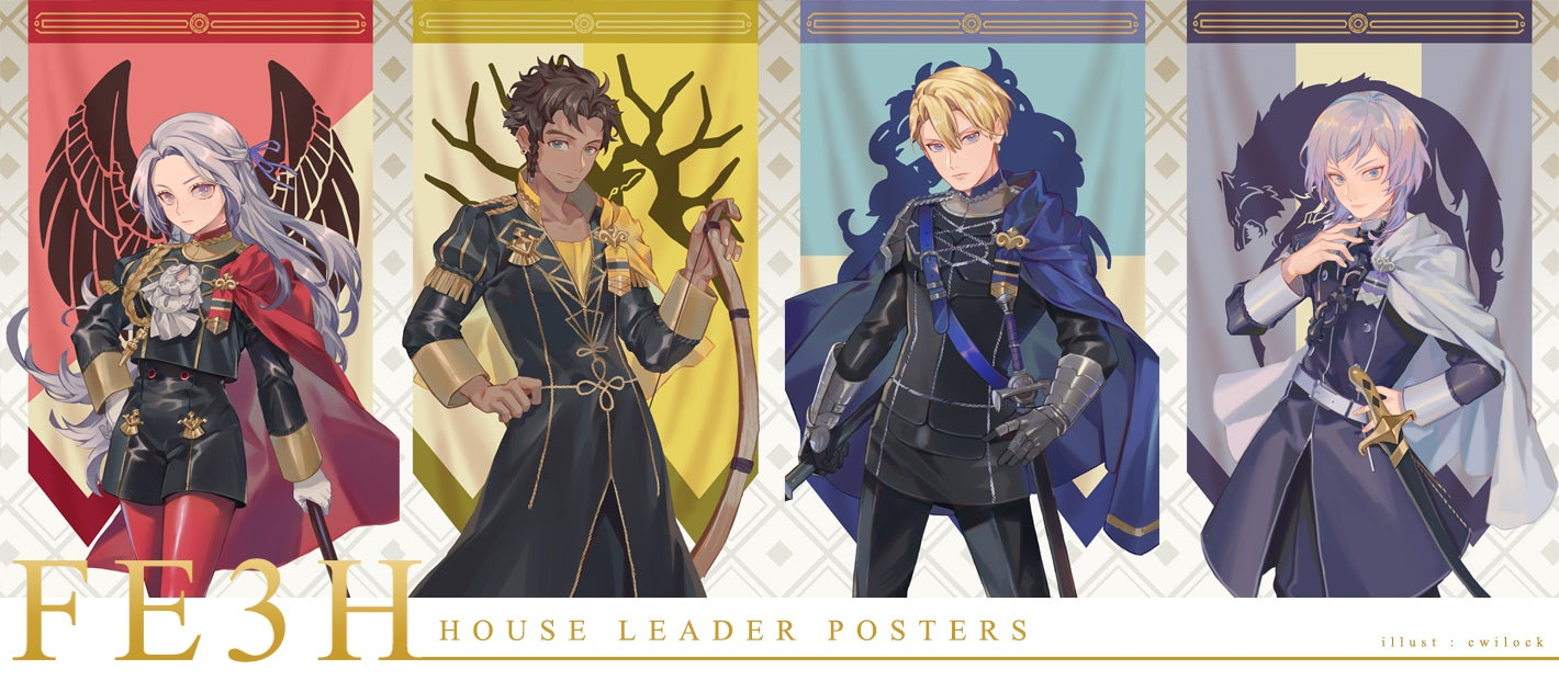 Image of FE3H House Leader Posters