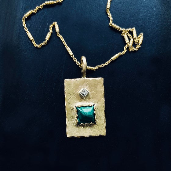 Image of PALMERA NECKLACE / 24k Gold-coated silver
