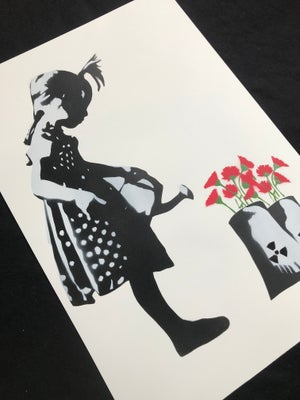 LITTLE GIRL WITH WATERING CAN -