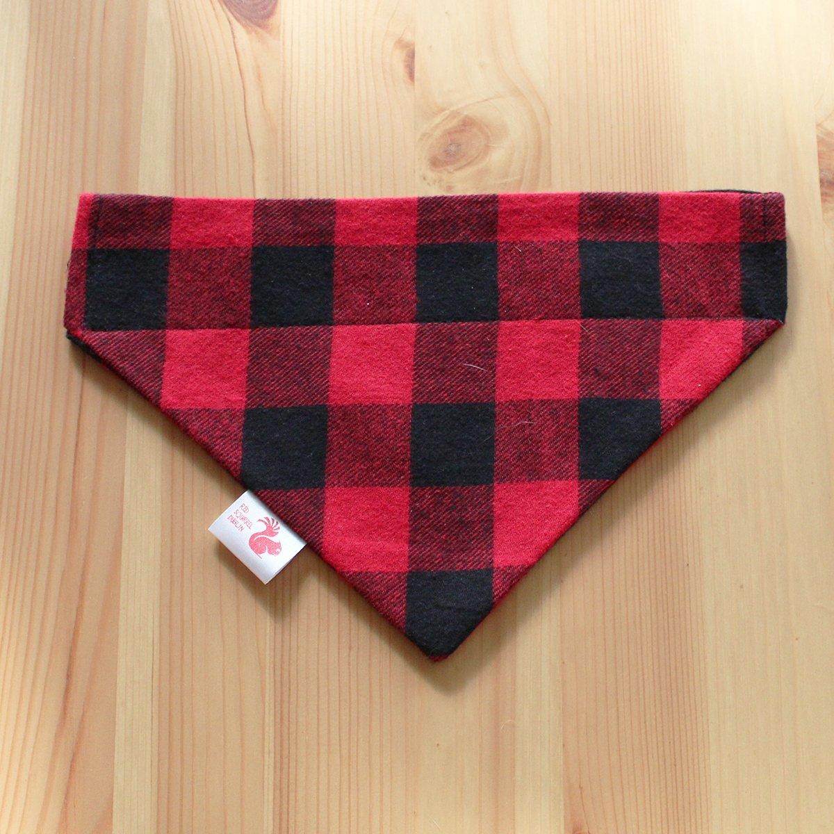 Image of Checked cat & dog bandana