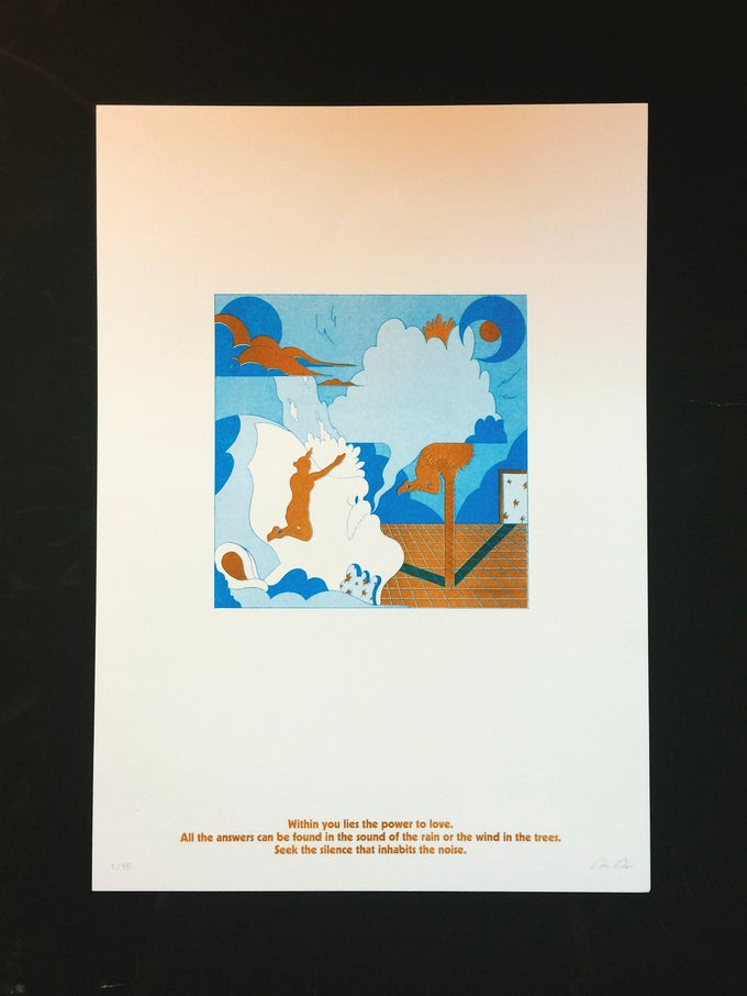 Image of Sūnyatā (2 color risograph print triptych - Edition of 15)
