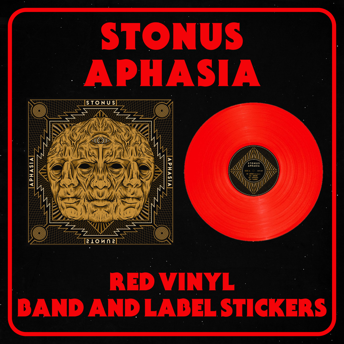 Image of STONUS - APHASIA Red Vinyl
