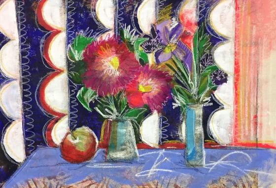 """Image of """"Dahlias & Irises"""""""
