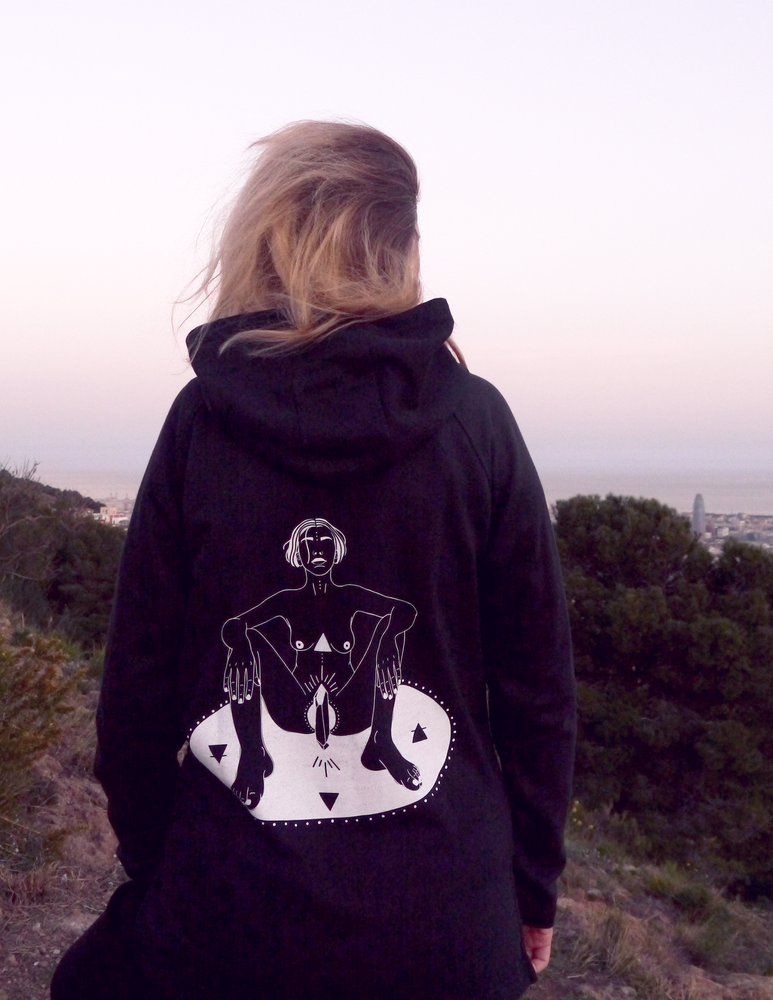 "Image of ""SACRED SPACE"" -Organic hoodie (normal fit)"
