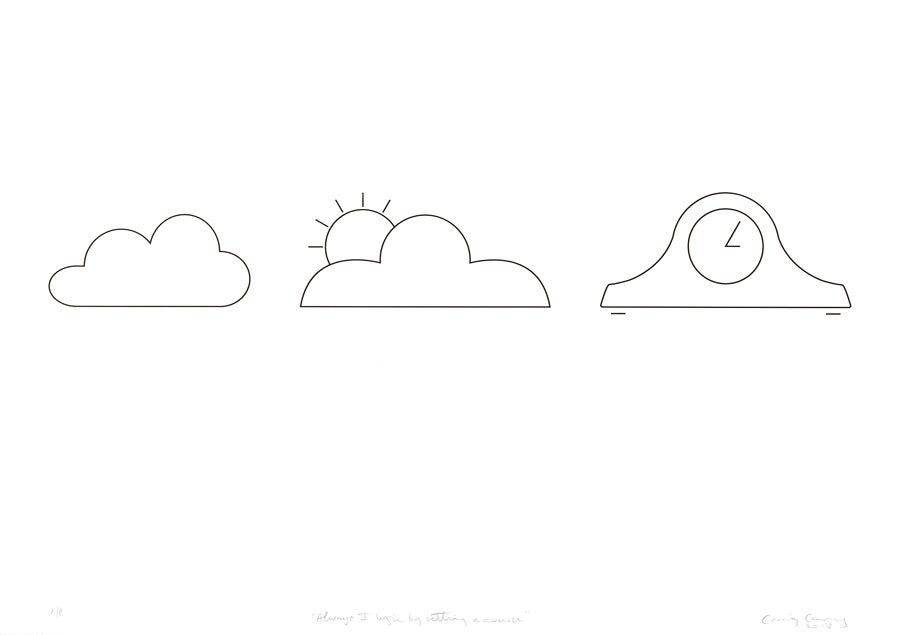 """Image of In Clouds I: """"Always I begin by setting a course"""""""
