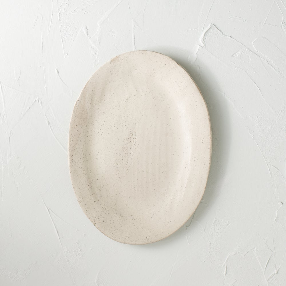 Image of Creamy speckled platter