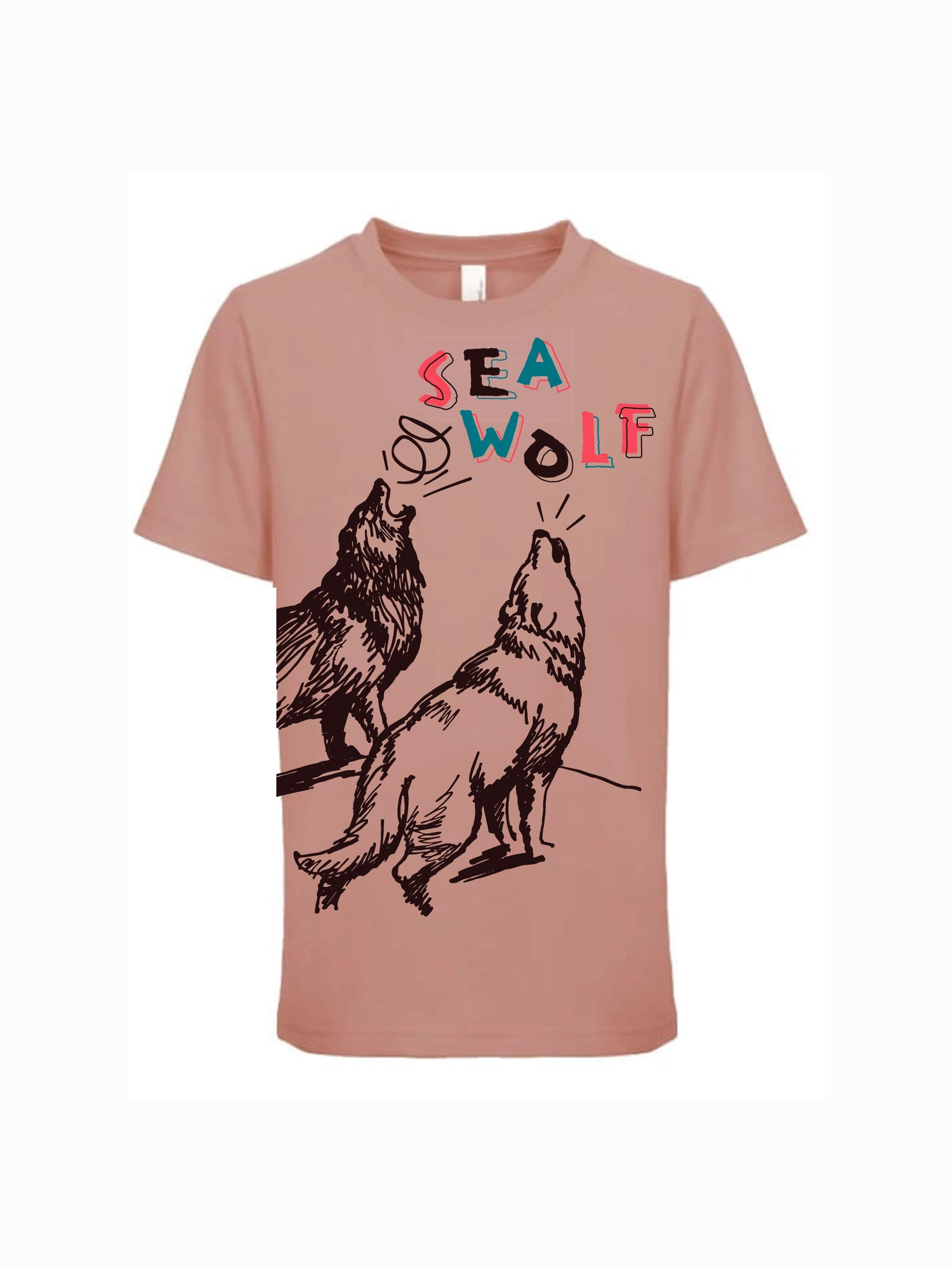 Image of Youth Wolf Tee - Desert Pink