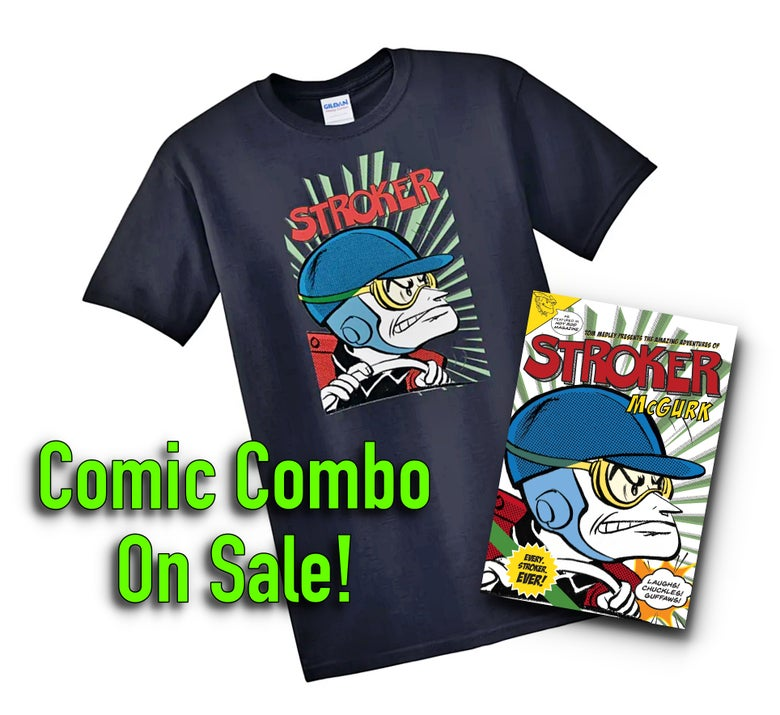 Image of Stroker Comic Book & Tee Combination