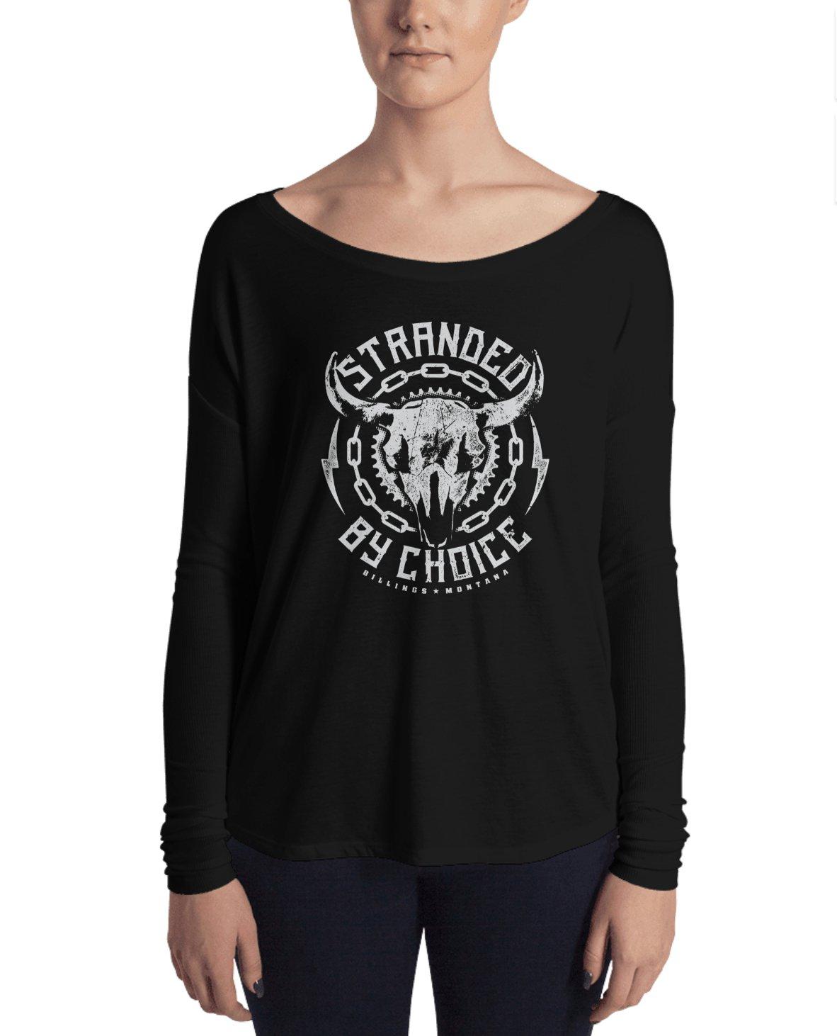 Skull Design Long Sleeve Women's Shirt