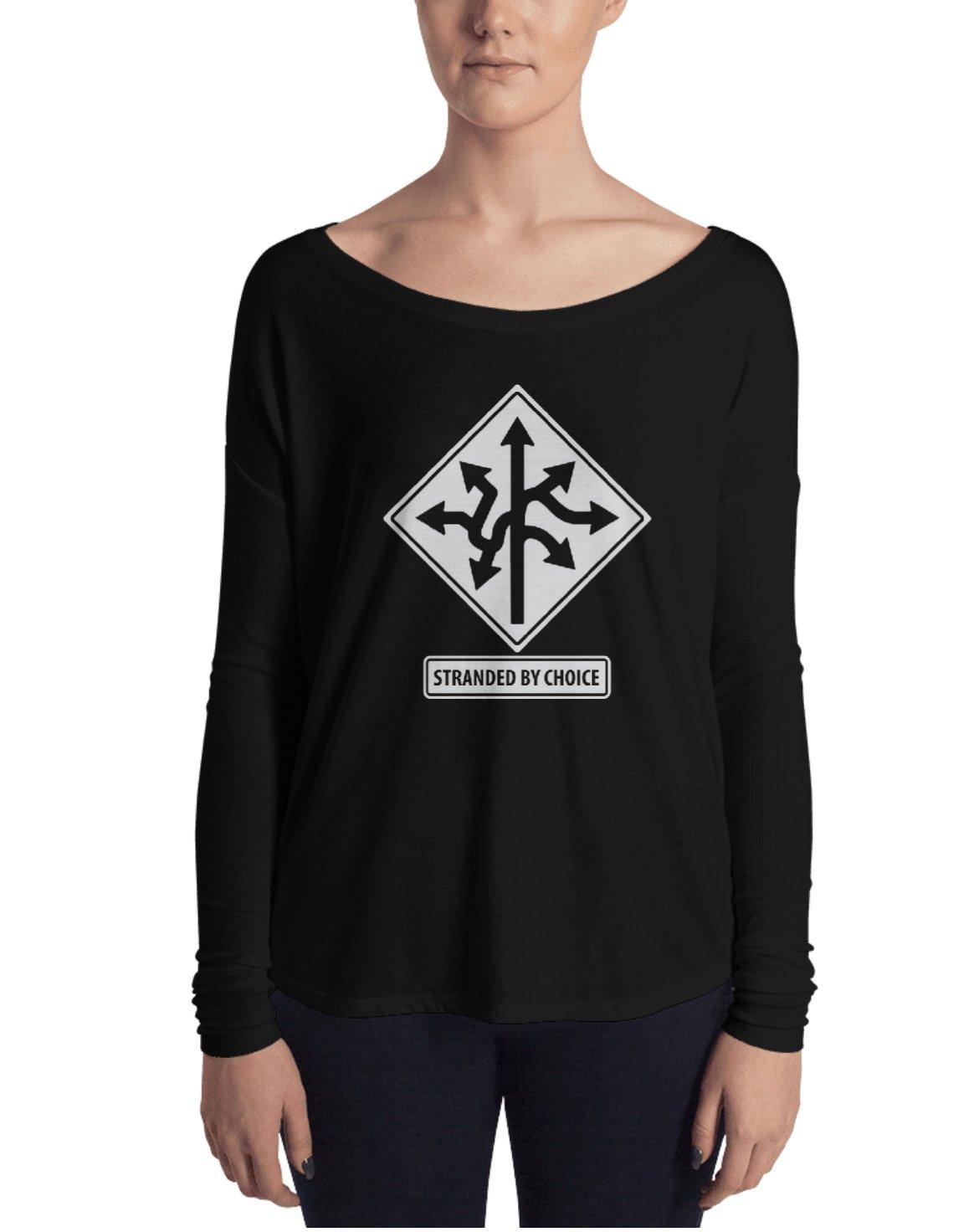 Road Sign Design Long Sleeve Women's Shirt