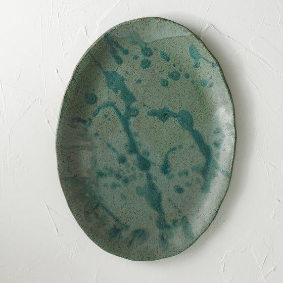 Image of Fern Alley Oval Splatter Platter