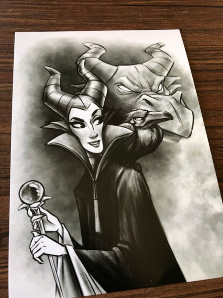 Image of Maleficent BW (print)
