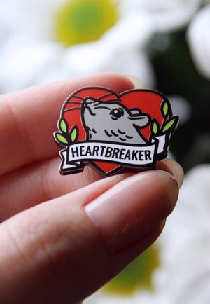 Image of Heartbreaker Rat Enamel Pin