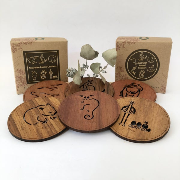 Image of Australiana Timber Coasters