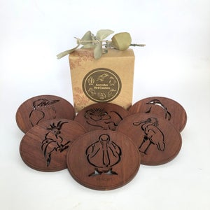 Australiana Timber Coasters