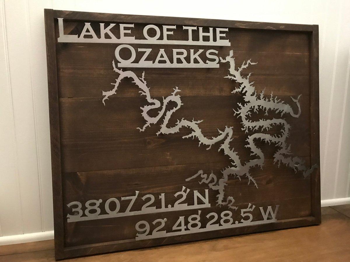 Lake Sign - Pine Backer