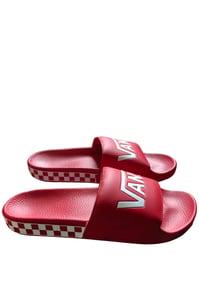 Image of VANS SLIDES - RED/WHITE